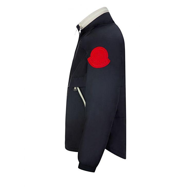 Moncler Enfant Navy Octagon Rain Jacket
