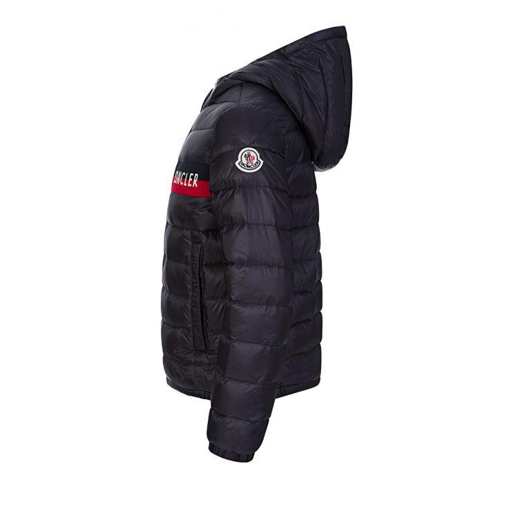 Moncler Enfant Navy Stripe Puffer Jacket