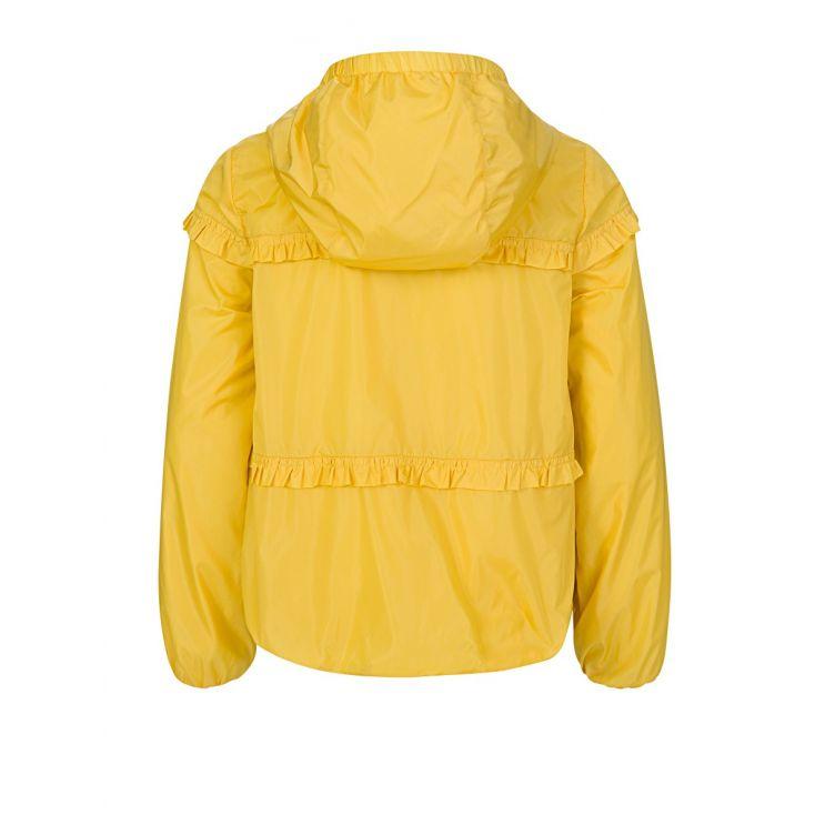 Moncler Enfant Yellow Hooded Ruffle Jacket