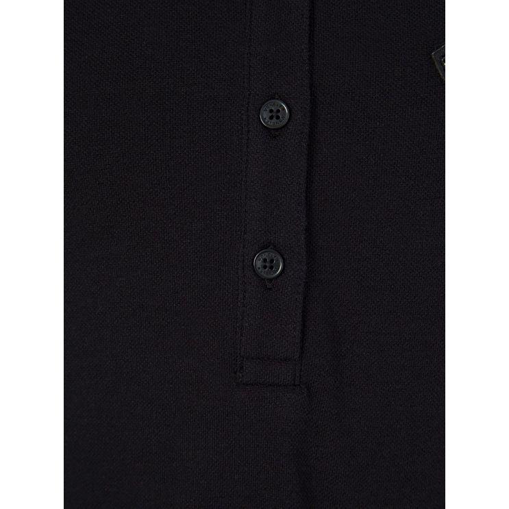 Moncler Enfant Black Frilled Polo Shirt