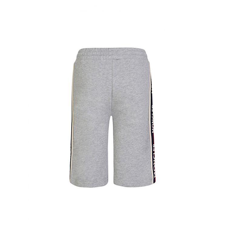 Moncler Enfant Grey Logo Jersey Shorts
