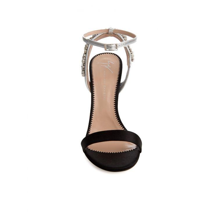 Giuseppe Zanotti Black Crystal Heels