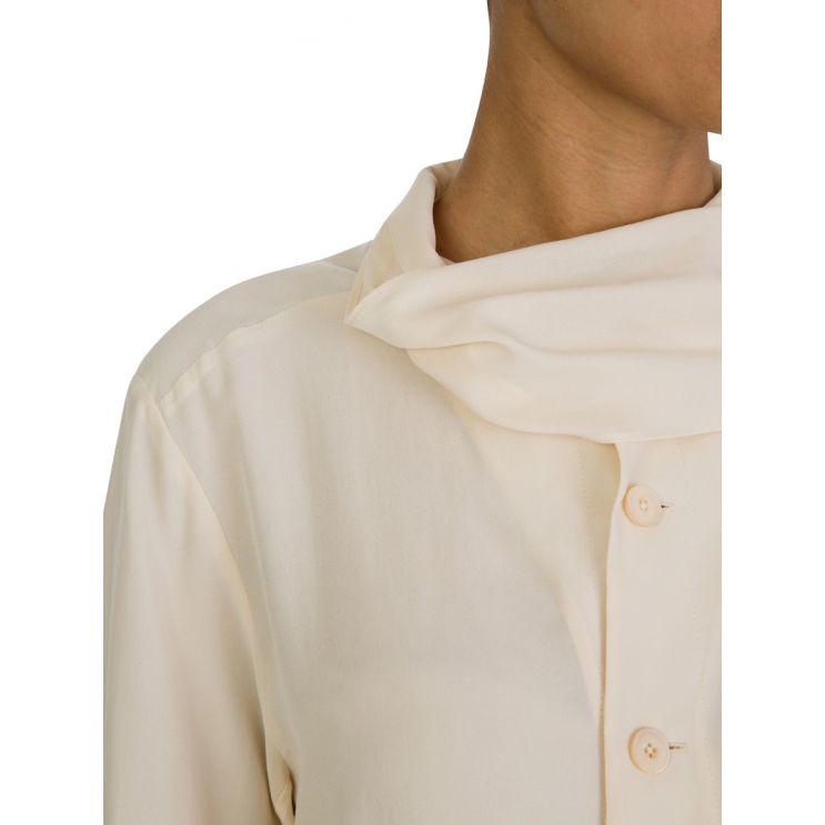 Joseph Beige Silk Tie Neck Blouse