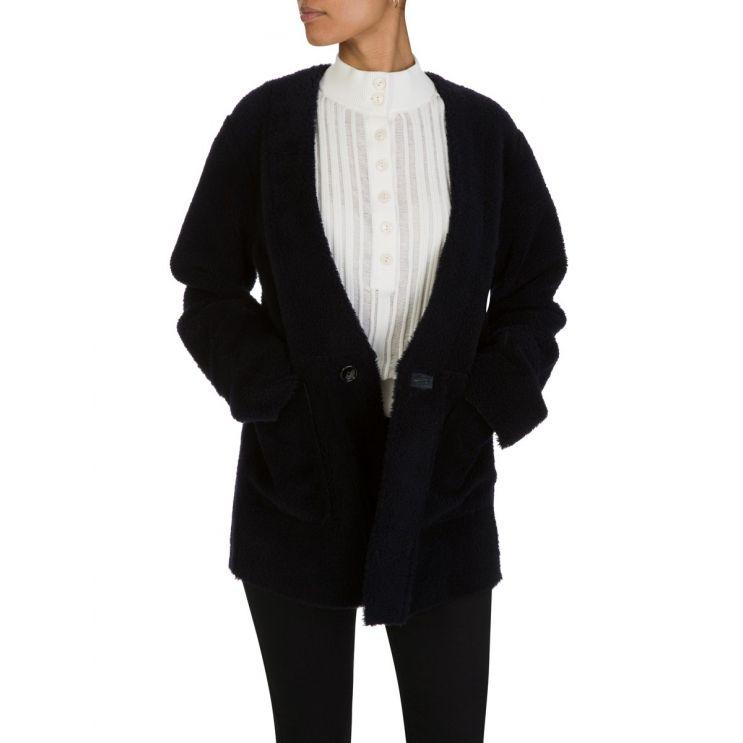 Joseph Navy Sheepskin Jacket