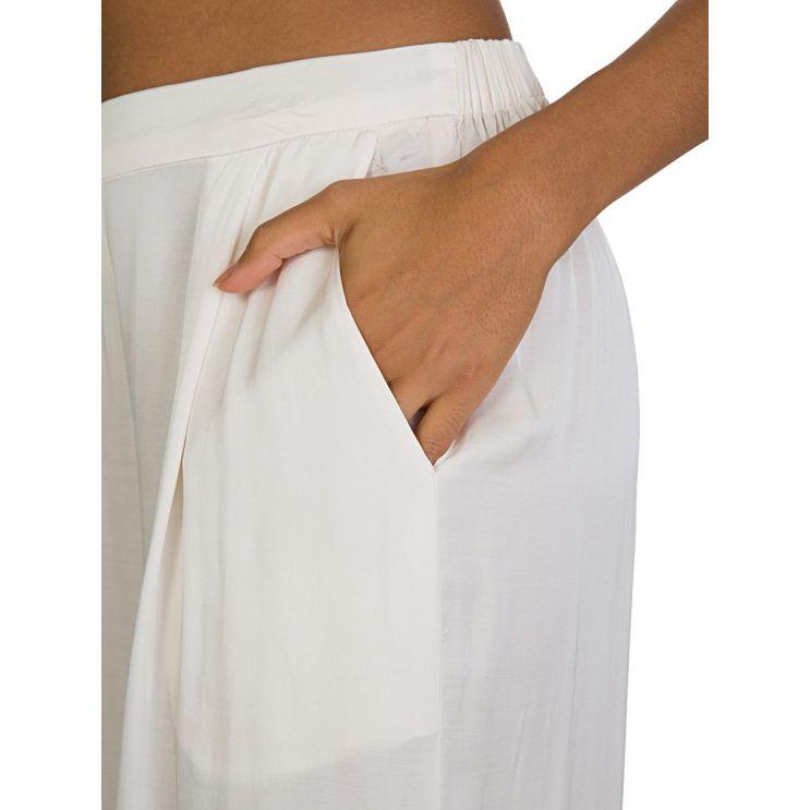 Velvet by Graham & Spencer Cream Silk Trousers