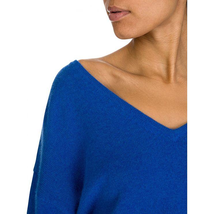 Velvet by Graham & Spencer Blue Tie Sleeve Jumper