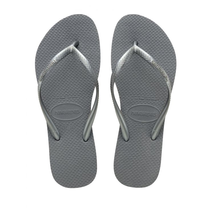 Havaianas Grey Steel Slim Brazil Flip-Flops