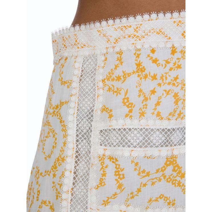 Stevie May White Marigold Skirt