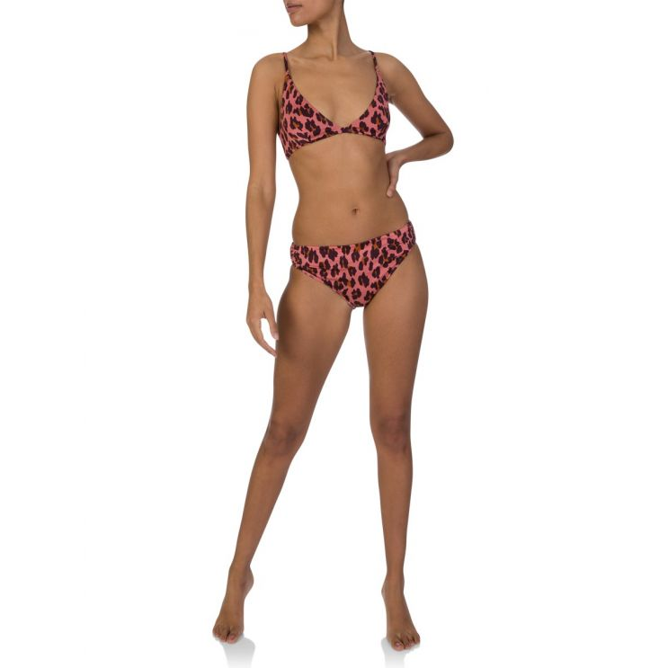 Stella McCartney Pink Leopard Print Bikini Top