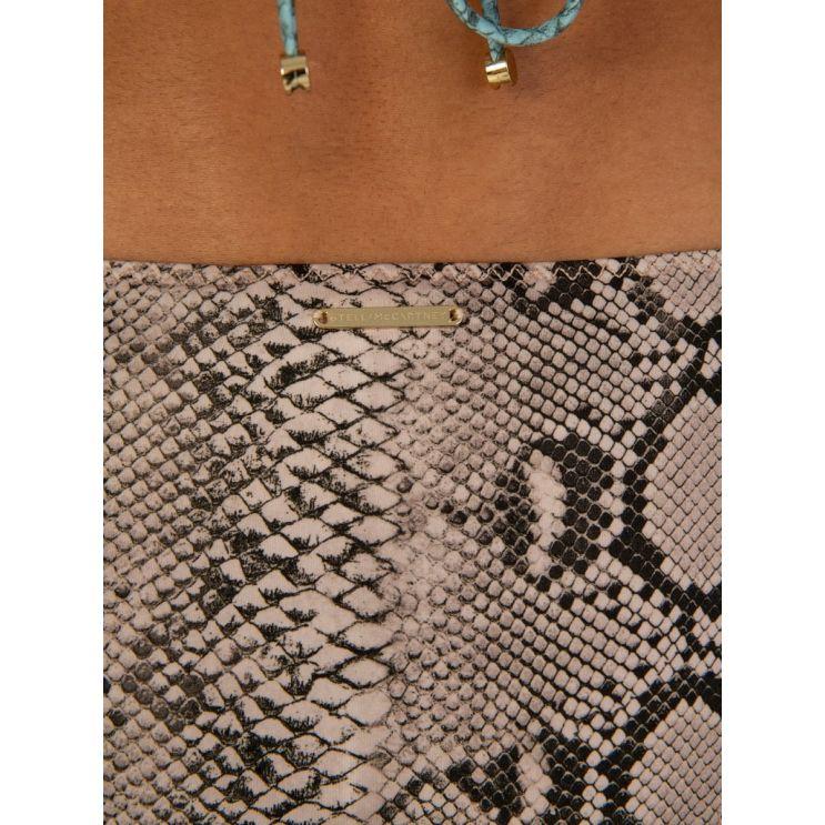 Stella McCartney Cream Snake Print Bikini Bottoms
