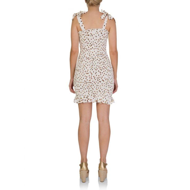 Tigerlily White Gaia Shirred Frill Mini Dress