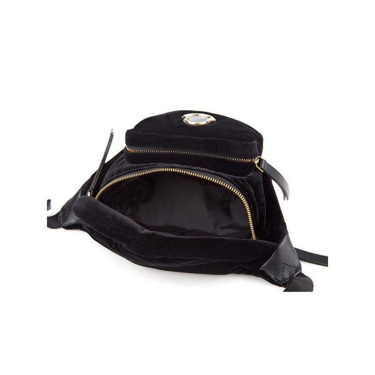 Moncler Black Velvet Felicie Belt Bag