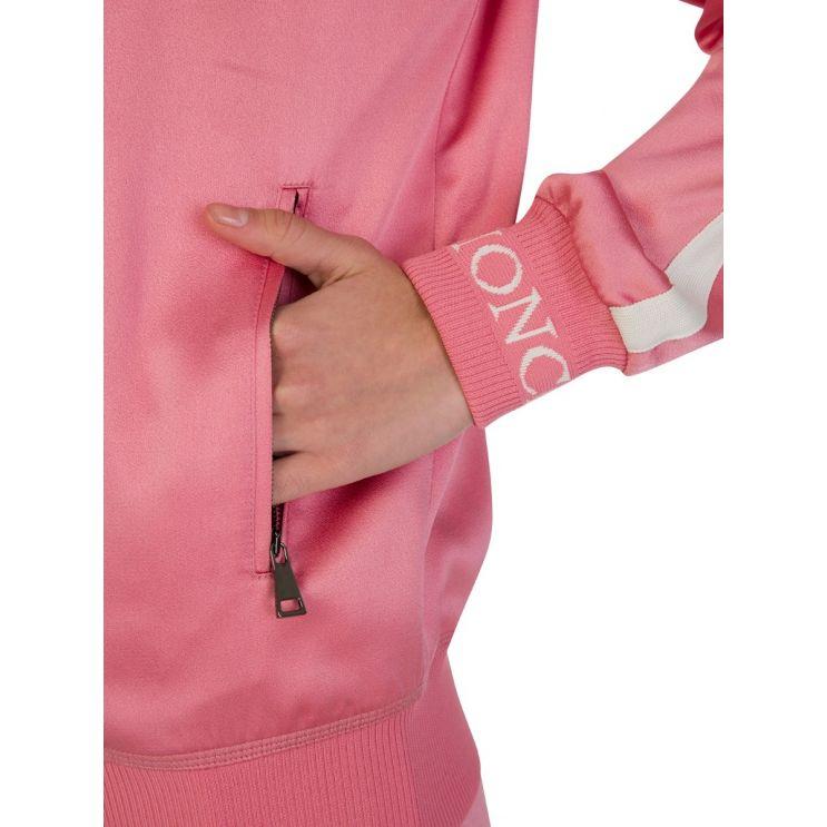Moncler Pink Zippered Silk Camicia Jacket