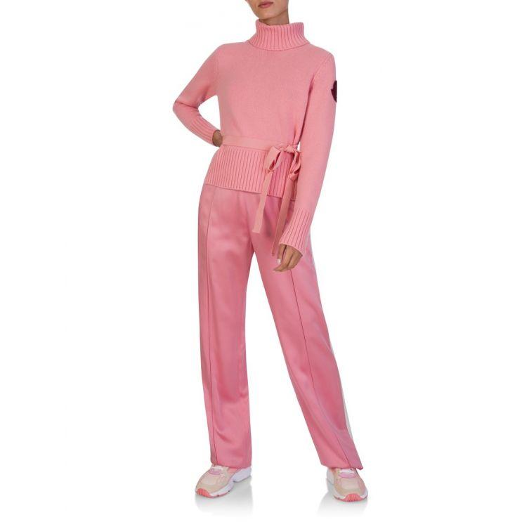 Moncler Pink Side-Tie Turtleneck Jumper