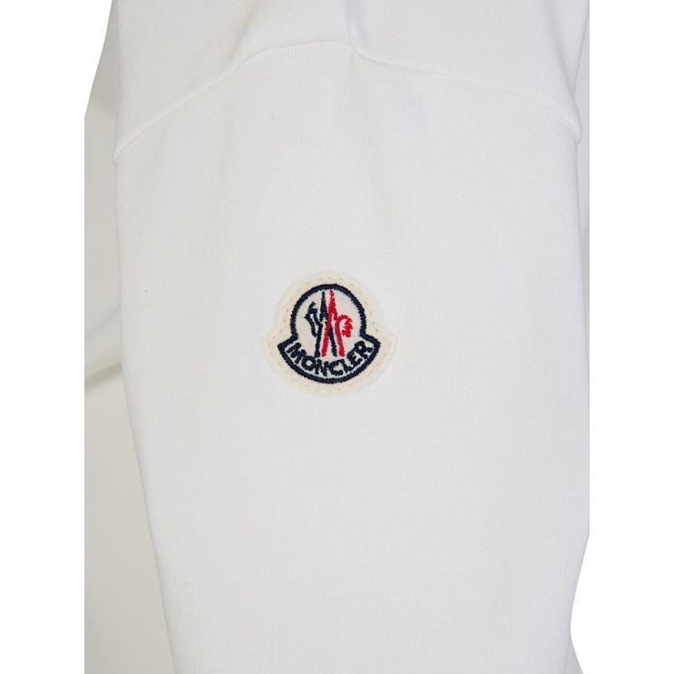 Moncler Enfant White Long-Sleeved Logo Sweatshirt