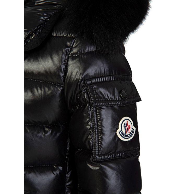 Moncler Enfant Black Bady Fur Jacket