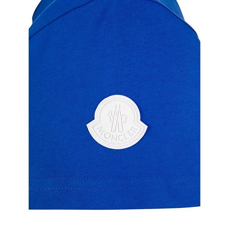 Moncler Enfant Blue Logo T-Shirt