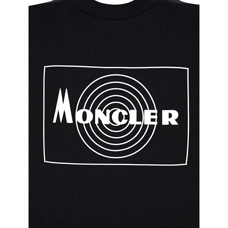 Moncler Enfant Black Rubberised Logo Sweatshirt