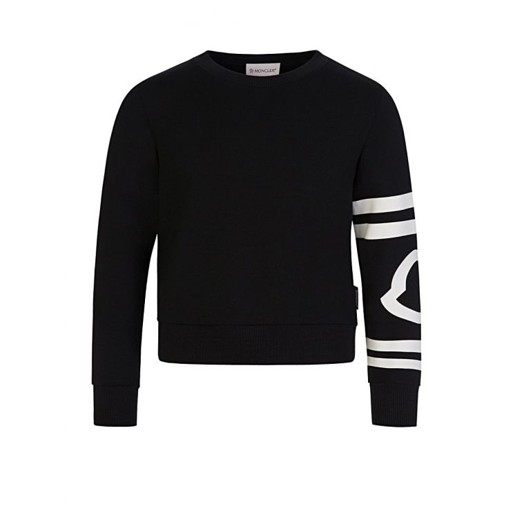 Moncler Enfant Black Stripe Sweatshirt