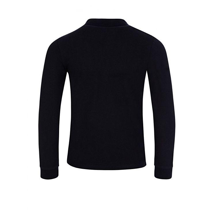 Moncler Enfant Navy Long-Sleeved Polo Shirt