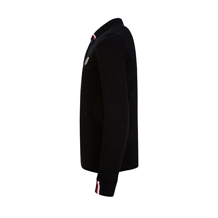 Moncler Enfant Black Polo Shirt