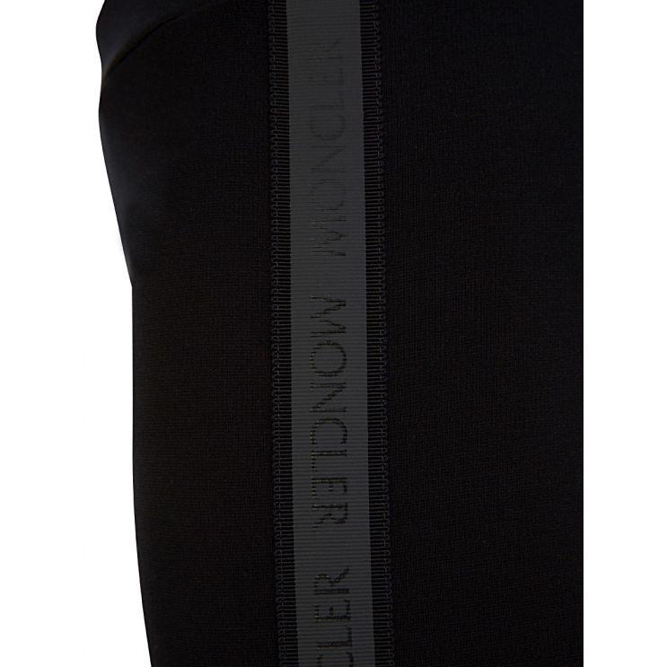 Moncler Enfant Black Logo Tape Leggings