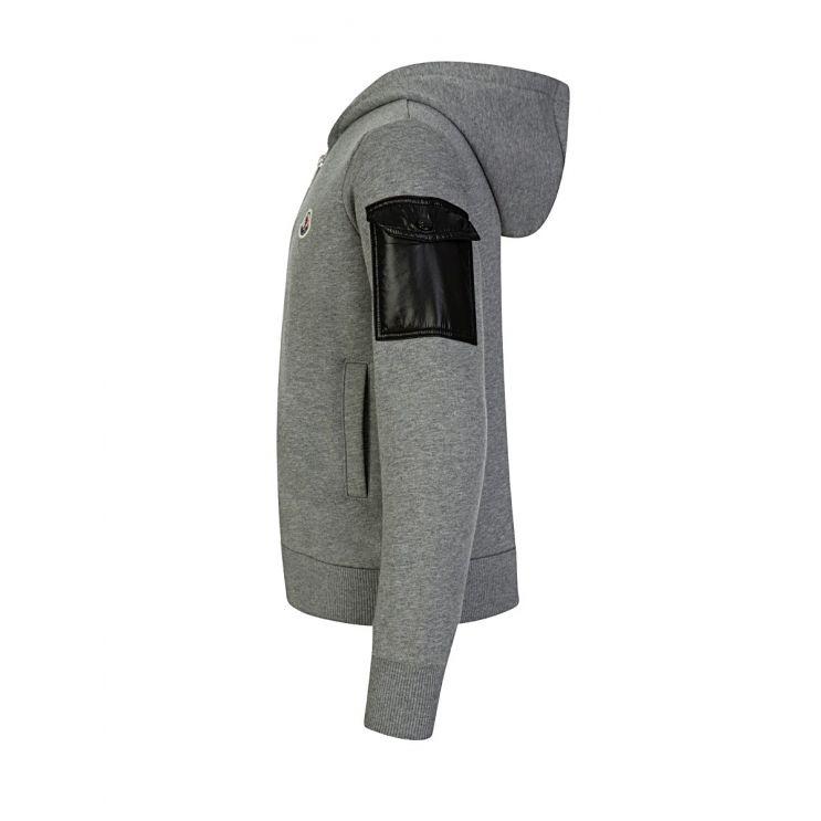 Moncler Enfant Hooded Grey Zip-Through Tracksuit