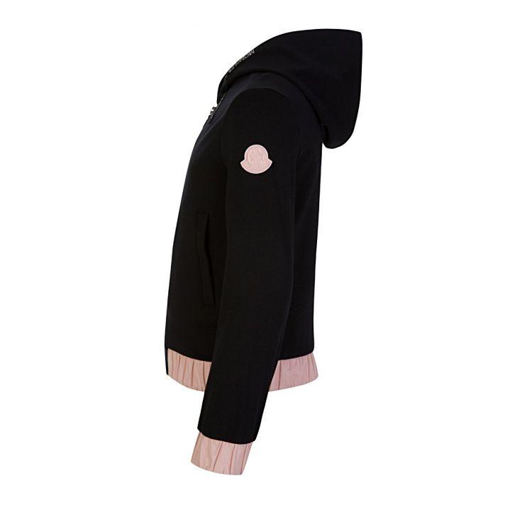 Moncler Enfant Black Hooded Tracksuit