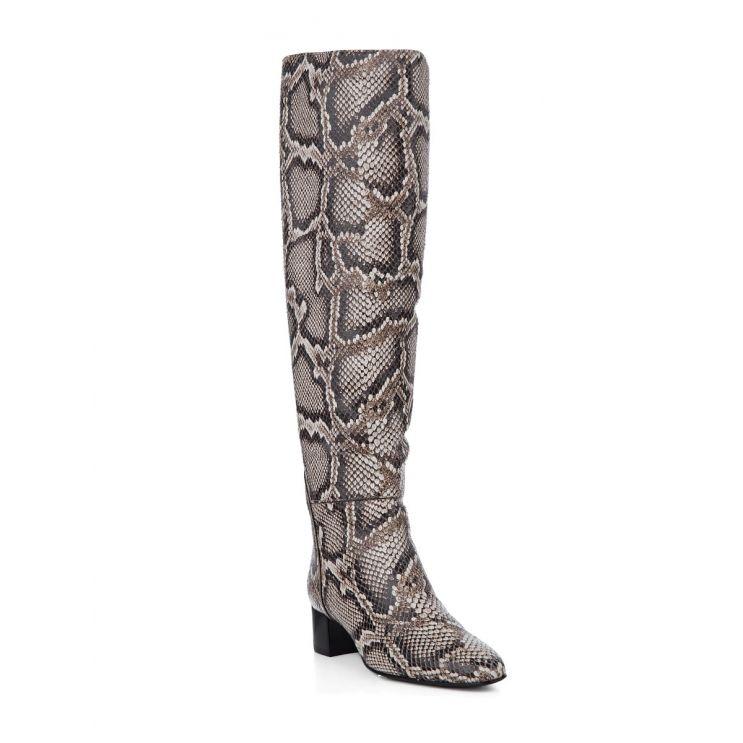 Giuseppe Zanotti Grey Doreen Python Print Boots