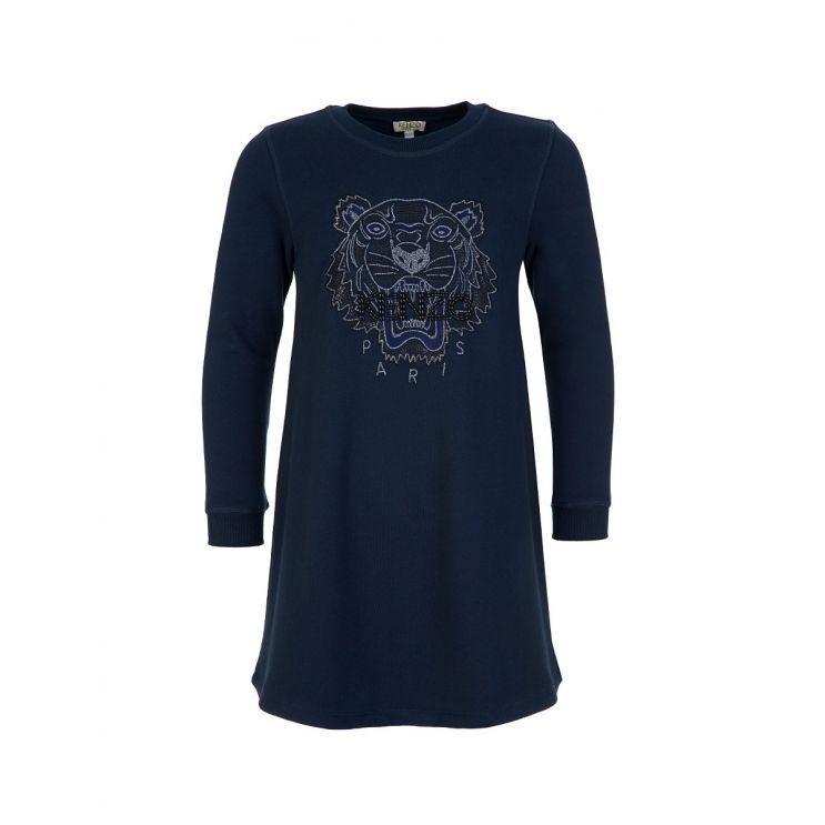 KENZO Kids Navy Tiger Sweatshirt Dress