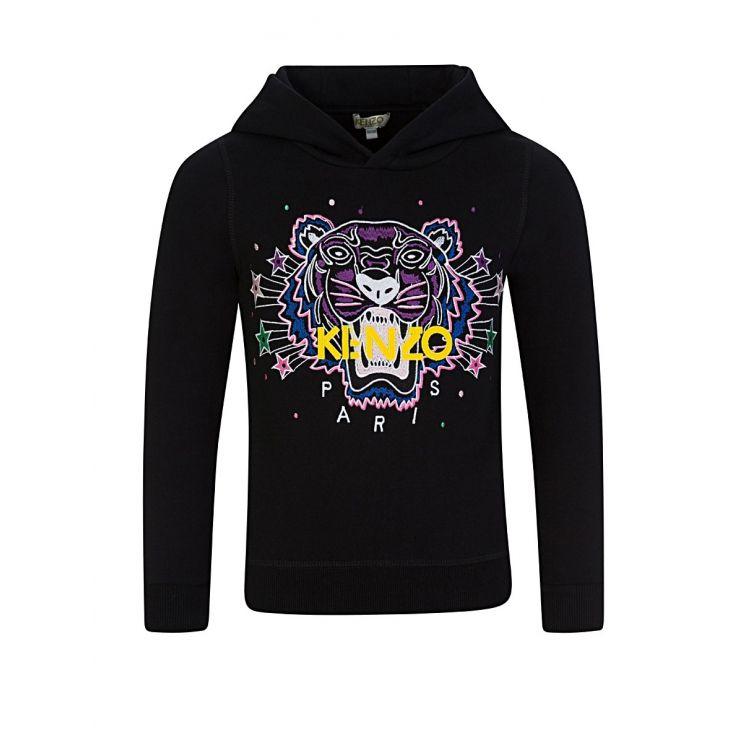 KENZO Kids Black Tiger Star Hoodie