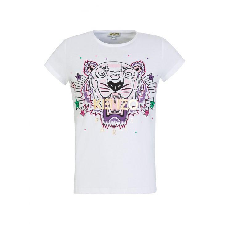 KENZO Kids White TIGER Stars T-Shirt