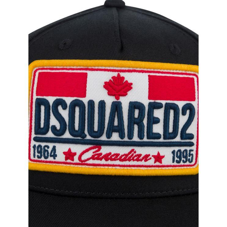 Dsquared2 Kids Black Canadian Logo Cap
