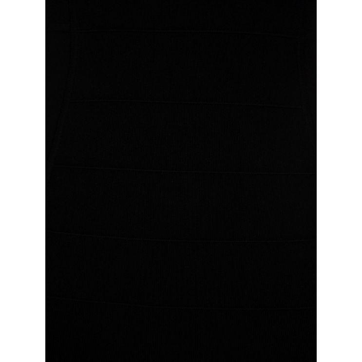 Patrizia Pepe Black Knit Mini Dress