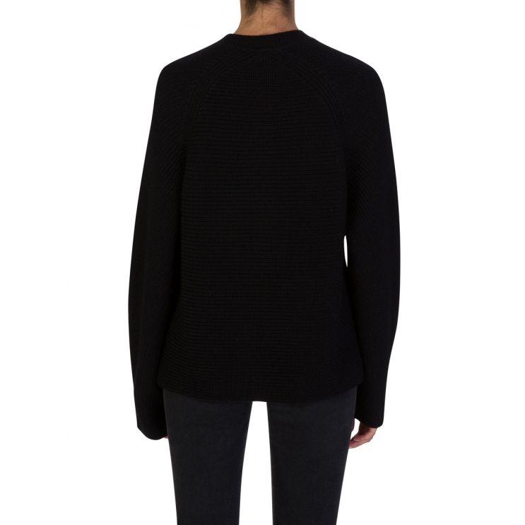 Diane Von Furstenberg Black Oversized Axel Jumper