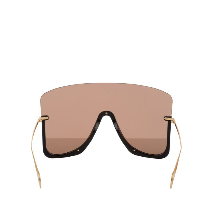 Gucci Black Mask Sunglasses With Star Rivets