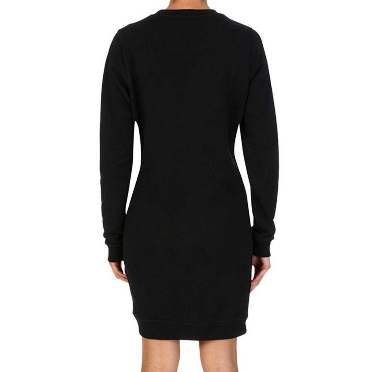 KENZO Black Long-Sleeve Tiger Sweatshirt Dress