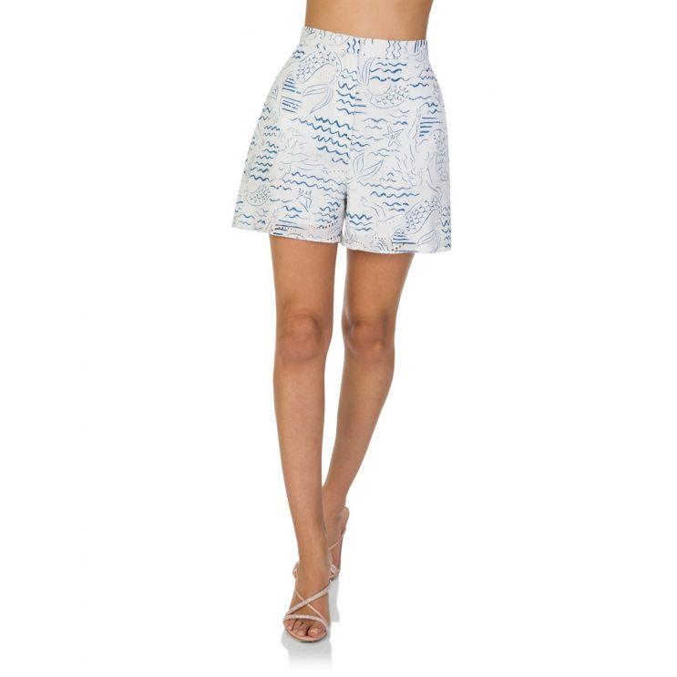 KENZO Blue Wave Mermaid Shorts
