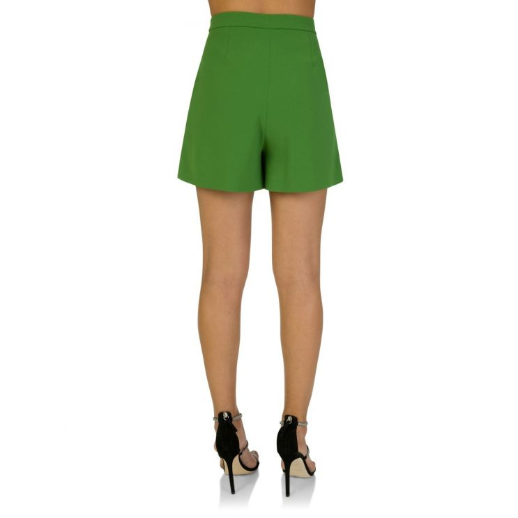 KENZO Lime Pleated Shorts
