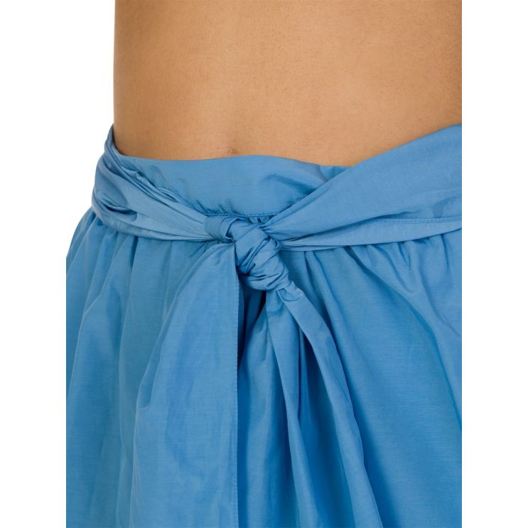 KENZO Blue Soft Knot Belt Shorts