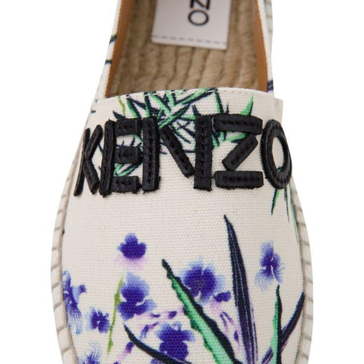 KENZO Cream Logo Espadrilles