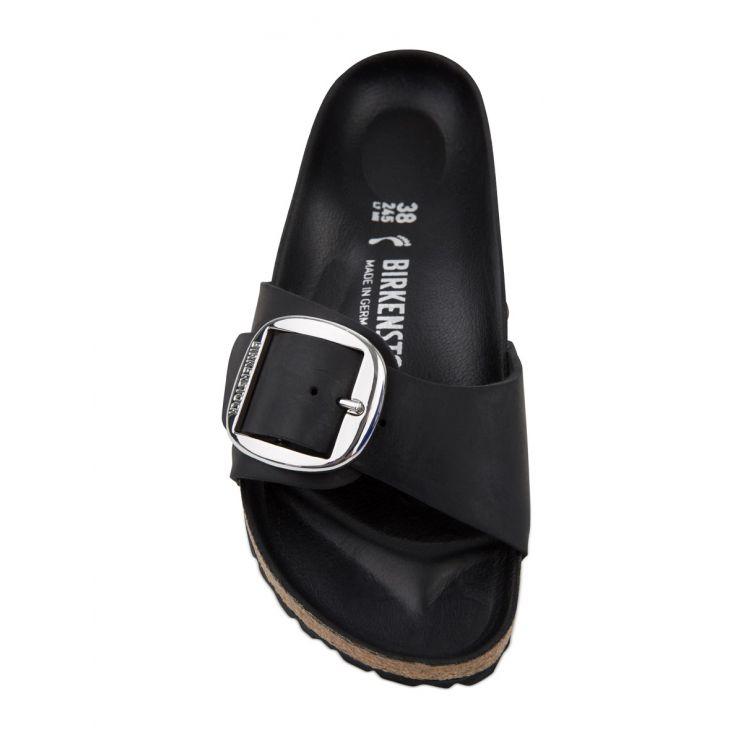 Birkenstock Black Madrid Big Buckle Sandals