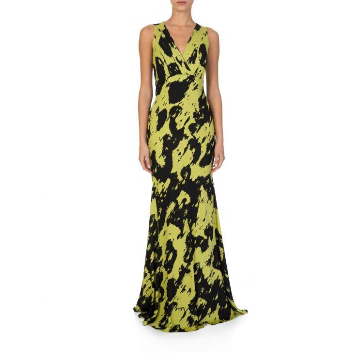 Diane Von Furstenberg Black Eugina Georgette Dress