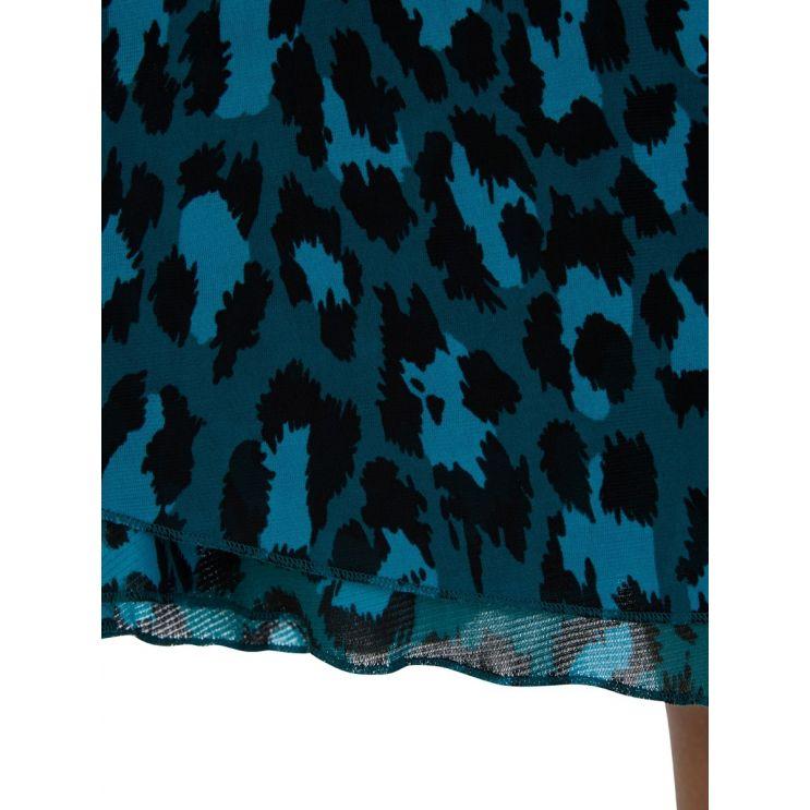 Diane Von Furstenberg Carin Green Leopard Print Dress