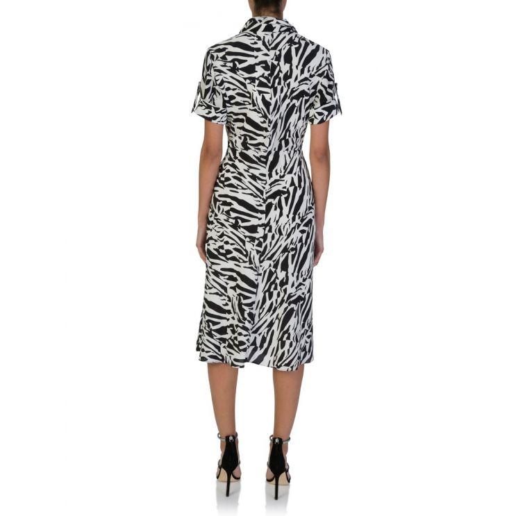 Diane Von Furstenberg Black/White Deborah Midi Dress