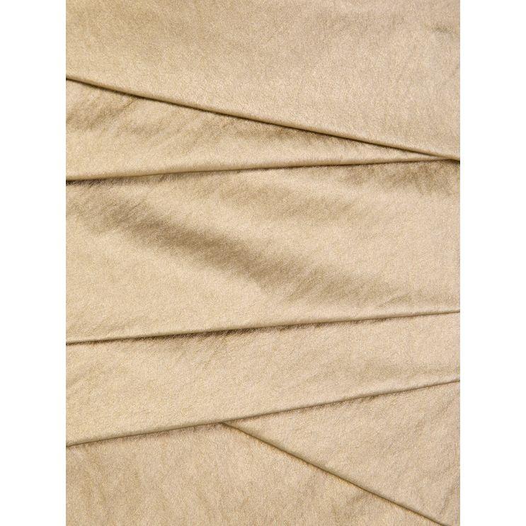 Philosophy Di Lorenzo Serafini Gold Tiered Mini Skirt