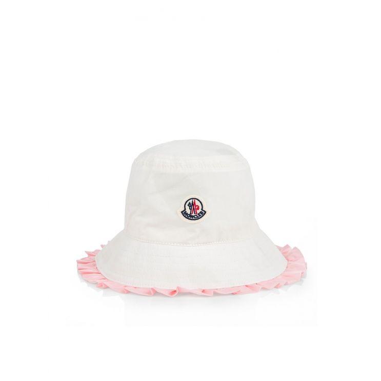 Moncler Enfant White Bucket Hat