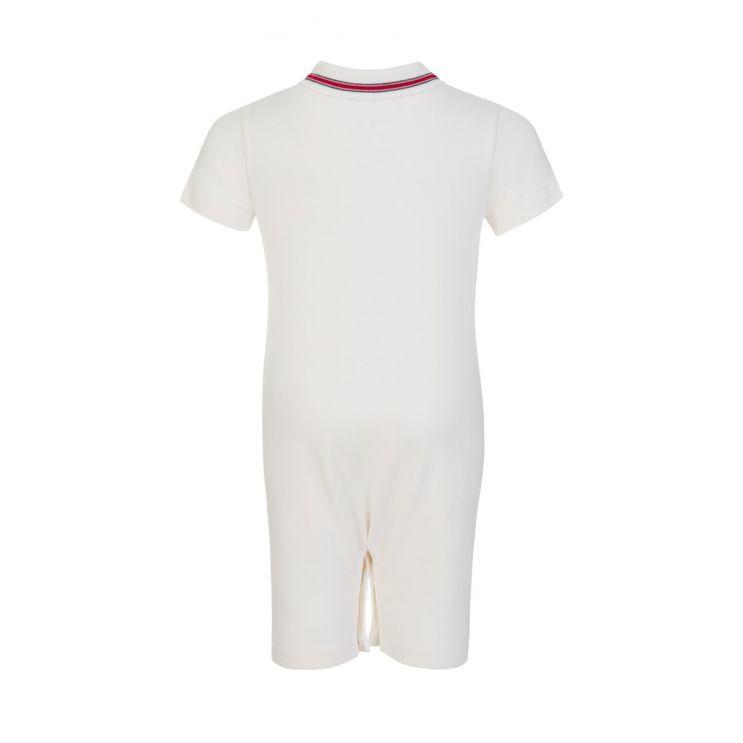 Moncler Enfant White Polo Babygrow