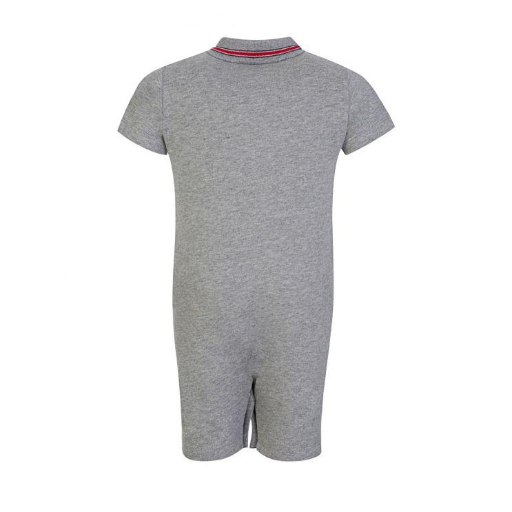 Moncler Enfant Grey Polo Babygrow
