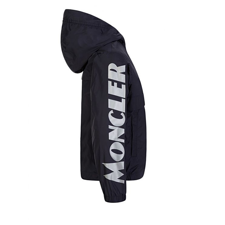 Moncler Enfant Navy Saxophone Raincoat